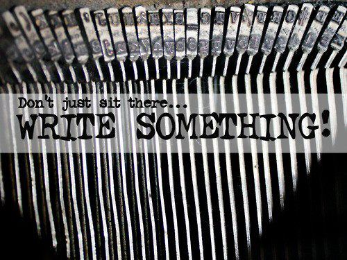 typewriter-write something