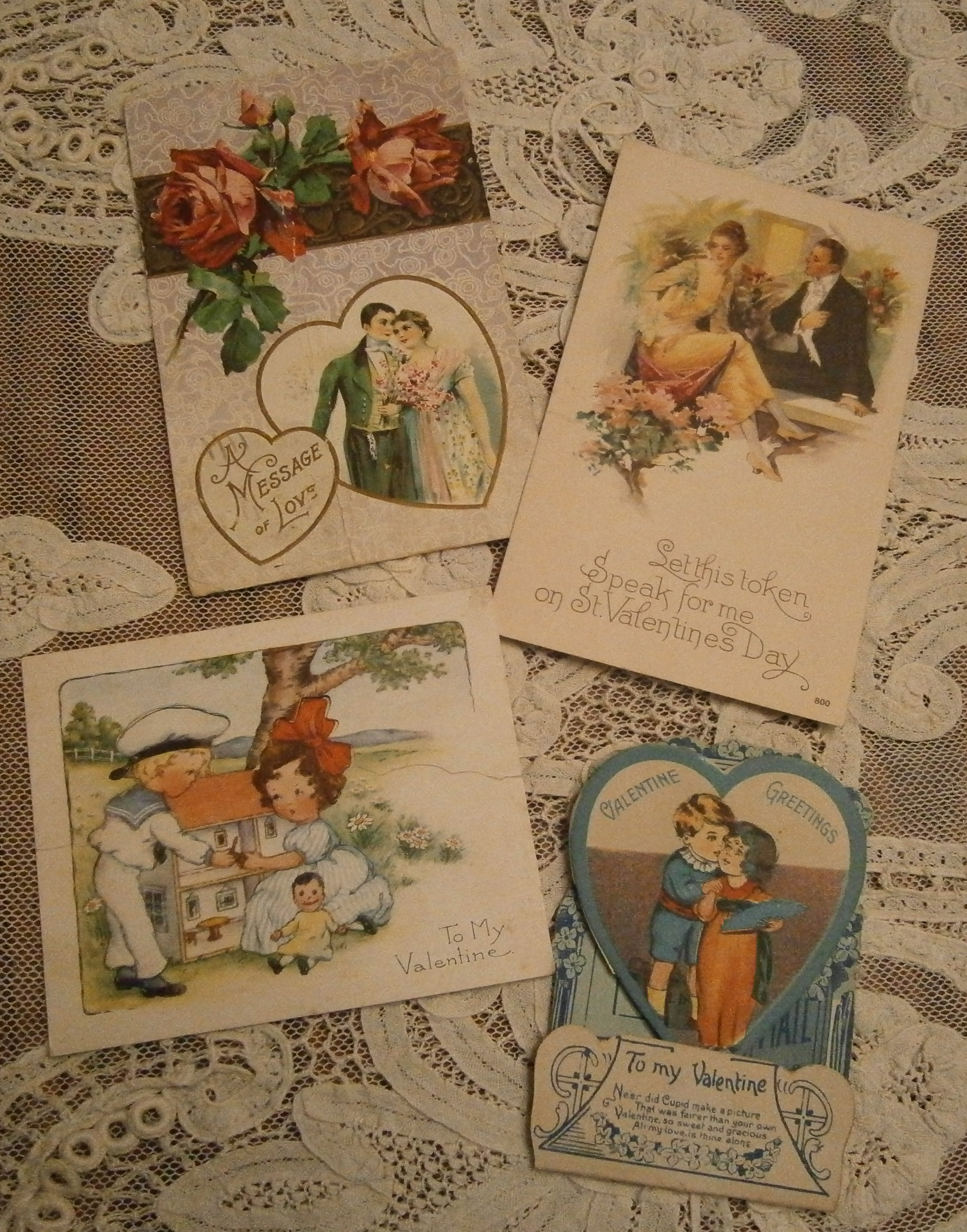 Some Of My Thanksgiving Cards Here Are My Favorite Valentines While Not As Elaborate As Ms Howlands I Love The Way These Cards Speak Of Romance
