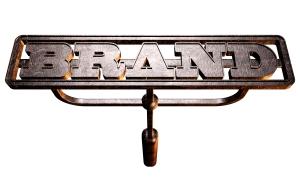 Metal Branding Brand Front