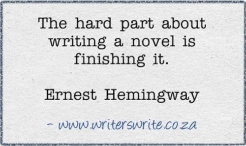 hemingway quote on finishing