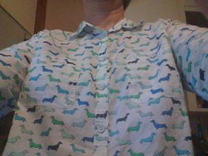 sara's daschund shirt
